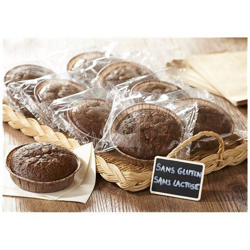 Glutén- és laktózmentes csokoládés sütemény 14 x 65g, gyorsfagyasztott