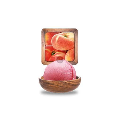 Piroshúsú őszibarack sorbet 'Plein Fruit' 2.5L