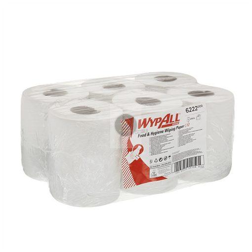WypAll® Reach™ Élelmiszeripari papírtörlő, belsőadagolású, Kimberly Clark 6222 (6 tekercs)