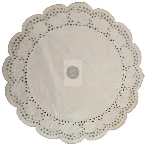 Tortacsipke, fehér kerek D270mm, 250db