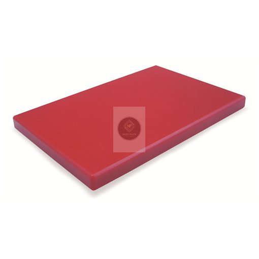 Vágódeszka PE, piros 530x325x20mm