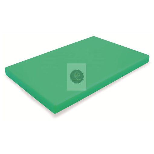 Vágódeszka PE, zöld 530x325x20mm