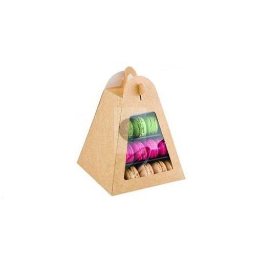 Ablakos doboz (macaron piramis állványhoz)
