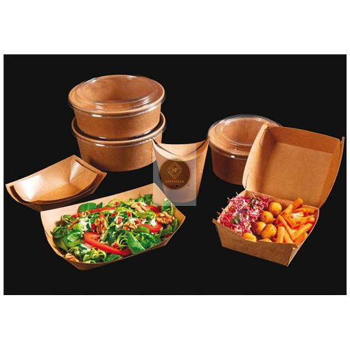 Ételdoboz kartonból 500ml, kerek alapú, D150x50mm