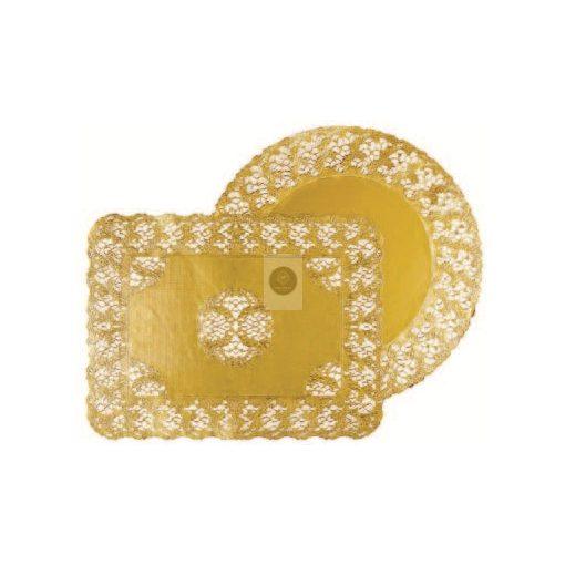 Tortacsipke, aranyszínű kerek D260mm (100db/csomag)
