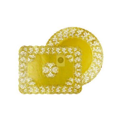 Tortacsipke, aranyszínű kerek D360mm (100db/csomag)