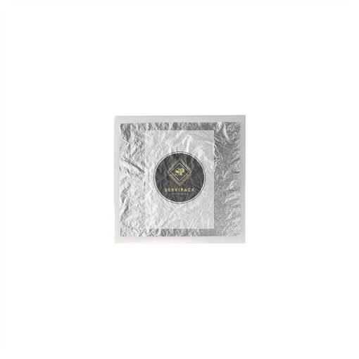 Ezüst fólia, Méret: 8x8cm, x25db
