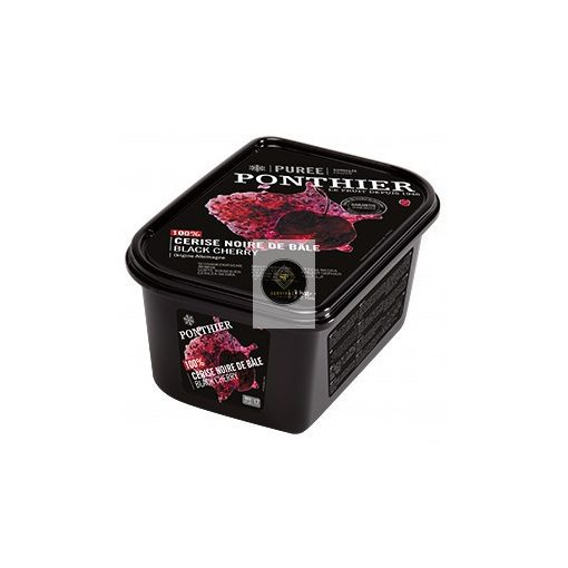 PONTHIER Cukormentes bázeli fekete cseresznyepüré, gyorsfagyasztott - 1kg