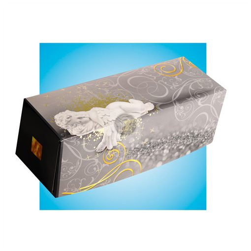 Fatörzs papír süteményes doboz 'Angyalkás' 25x11x11cm, x25db