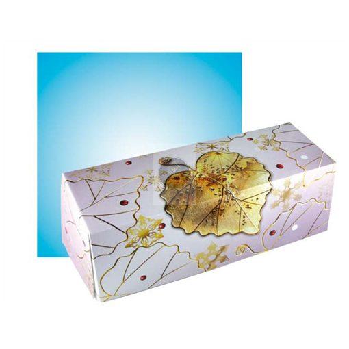 Fatörzs papír süteményes doboz 'Bijou' 25x11x11cm, x25db