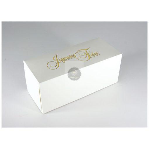 Fatörzs papír süteményes doboz 'Joyeuses Fetes' 25x11x11cm, x25db