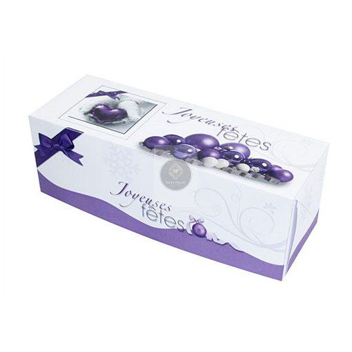 Fatörzs papír süteményes doboz 'Purple' 35x11x11cm, x25db